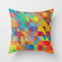 Color Chaoses Throw Pillow