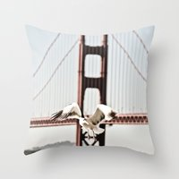 BAY GULLS Throw Pillow