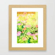 Sunny Flowers Framed Art Print