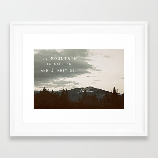 The Mountain is Calling Framed Art Print