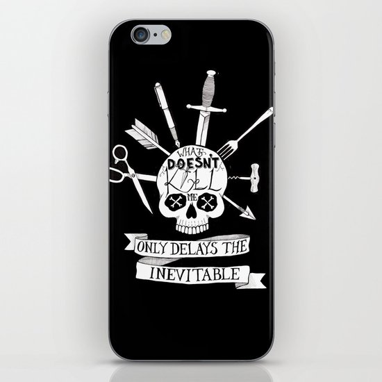 What Doesn't Kill Me - Black iPhone & iPod Skin