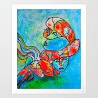 Water Souls Art Print