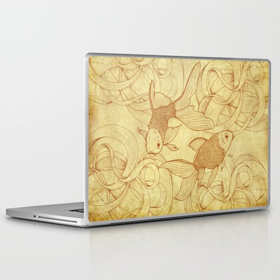 Vintage Goldfishes II Laptop & iPad Skin