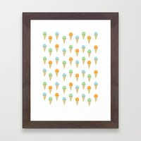 Ice Cream Pattern Framed Art Print