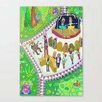 Half Time At The Ballet Canvas Print