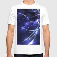 Blue Light Mens Fitted Tee White SMALL