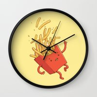 French Fries Fall Wall Clock