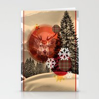 Christmas Scene. Stationery Cards