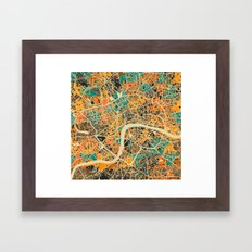 London Mosaic Map #3 Framed Art Print