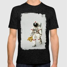 Space can be lonely Mens Fitted Tee Tri-Black SMALL