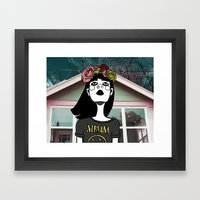 90's Revival Girl Framed Art Print