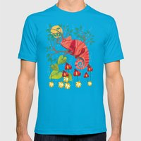 The Red Chameleon  Mens Fitted Tee Teal SMALL