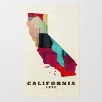 California state map modern Rug