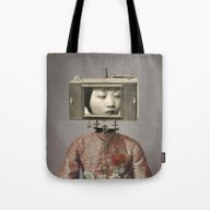 Tote Bag featuring DISCONNECT by Julia Lillard Art