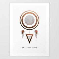 Catch Your Dreams / Copper Version Art Print