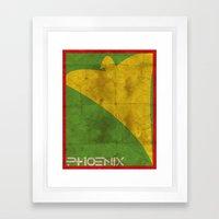 Minimalist Phoenix Framed Art Print