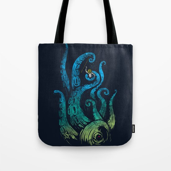 Undersea attack (neon ver.) Tote Bag