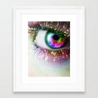 Rainbow Siren Framed Art Print
