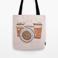 Wood Canon Tote Bag