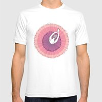 Pink Ballerina Mens Fitted Tee White SMALL
