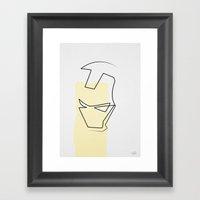 Oneline Ironman Framed Art Print