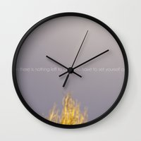 WHEN THERE IS NOTHING LEFT TO BURN Wall Clock