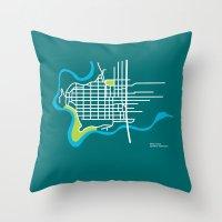 West Central, Spokane Throw Pillow
