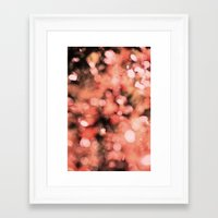 Framed Art Print featuring Bokeh Bubbly by Shawn King