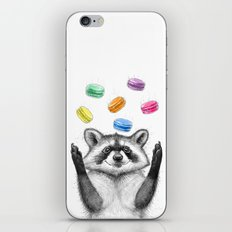 raccoon with cookies iPhone & iPod Skin