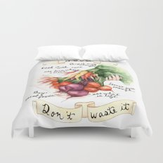 Food Poster Duvet Cover