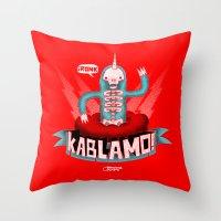 Kablamo! Throw Pillow