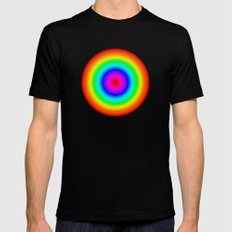 Rainbow Circle Mens Fitted Tee Black SMALL