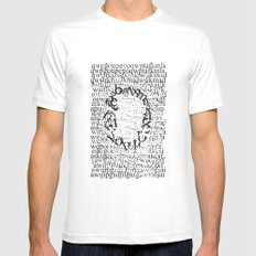 Letters  White SMALL Mens Fitted Tee