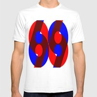 69 Mens Fitted Tee White SMALL