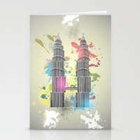 Petronas Towers Abstract Stationery Cards