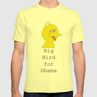 Big Bird for Obama!  Mens Fitted Tee Lemon SMALL