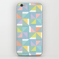 pinwheels - blue iPhone & iPod Skin