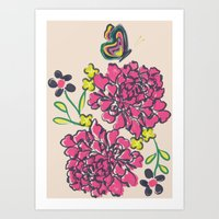 Budding Love Art Print