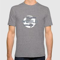 Its A Small World  Mens Fitted Tee Tri-Grey SMALL