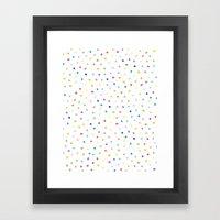 Rainbow Polka Dot Framed Art Print