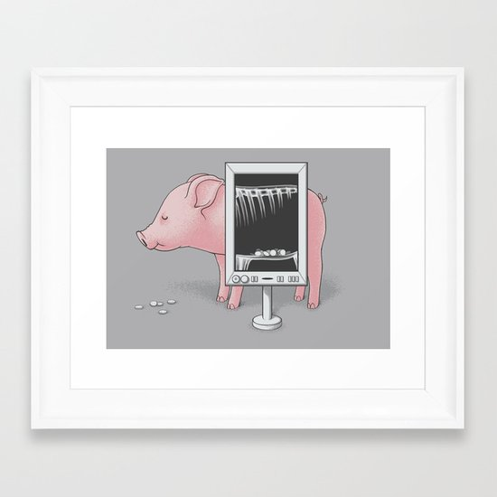 Saving money Framed Art Print