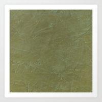 Tuscan Olive Green Plaster Art Print