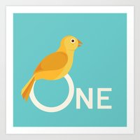 One Songbird Art Print