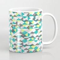 scribble triangles Mug