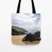 Peaceful sand and ocean Tote Bag