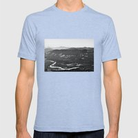 River In The Mountains B… Mens Fitted Tee Tri-Blue SMALL