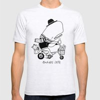 Alwhales Latte Mens Fitted Tee Ash Grey SMALL