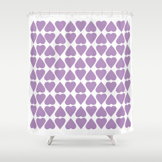 Diamond Hearts Repeat O Shower Curtain