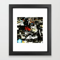 VW Engine Framed Art Print