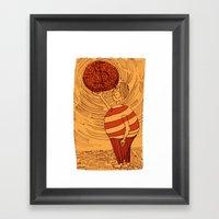 Greed Framed Art Print